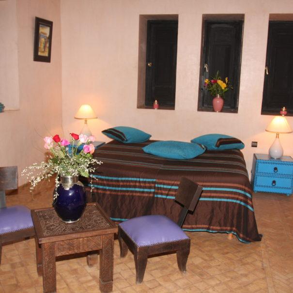 Photo de la chambre turquoise - Villa Catherine
